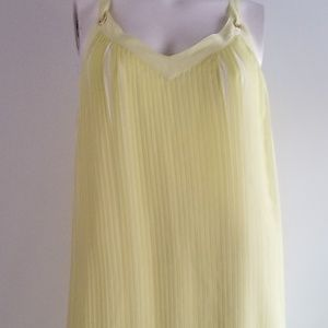 Pleated Maxi with Crossed back straps
